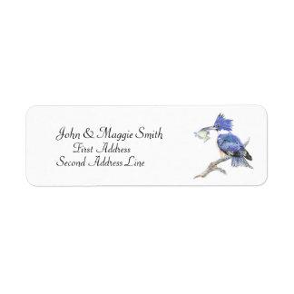 Belted Kingfisher - Bird Nature Address Label