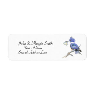 Belted Kingfisher - Bird, Nature Address Label