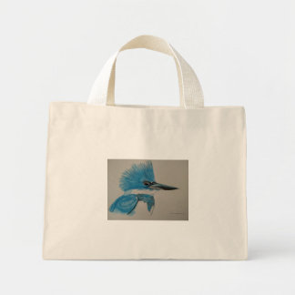 Belted Kingfisher Mini Tote Bag