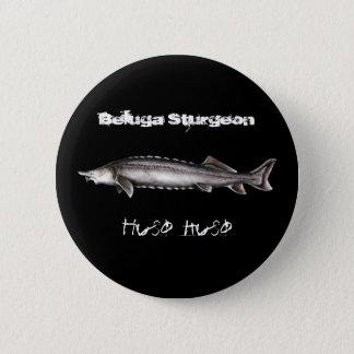 Beluga Sturgeon 2 Inch Round Button