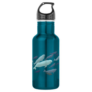 Beluga Whale Art Marine Life 532 Ml Water Bottle