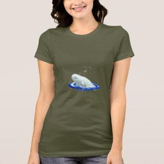 Beluga Whale Ladies Basic T-Shirt