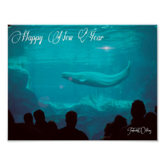 Beluga Whale New Year poster
