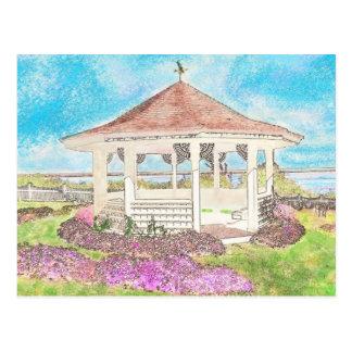 Belvédère blanc peint dans Cape Cod Carte Postale