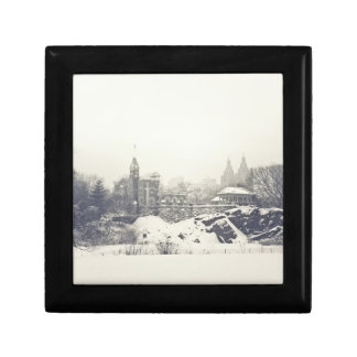 Belvedere Castle in the Winter in Central Park Jewelry Boxes
