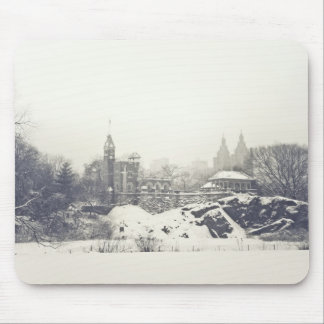 Belvedere Castle in the Winter in Central Park Mouse Pad