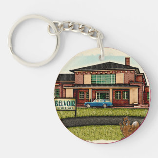 Belvoir Elementary Alumni (Personalized) Double-Sided Round Acrylic Keychain