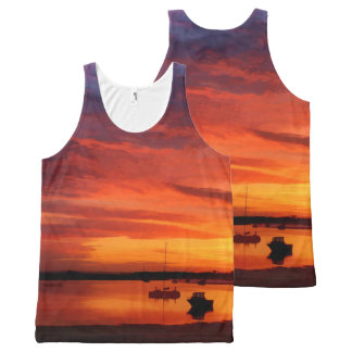Bembridge Harbour 0430 All-Over-Print Tank Top