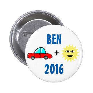 Ben Carson 2016 2 Inch Round Button