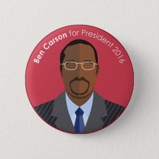 Ben Carson 2016 for president custom button