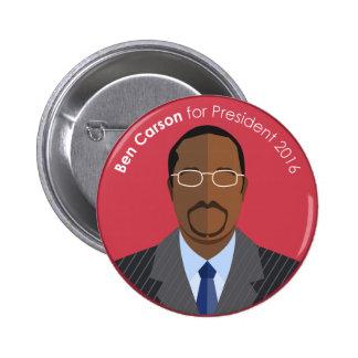 Ben Carson 2016 for president custom button