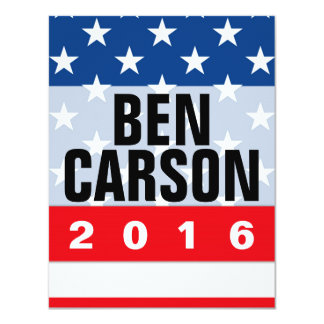 Ben Carson 2016 Political Conservative Card
