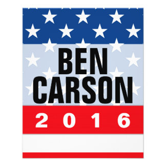 Ben Carson 2016 Political Conservative Flyer