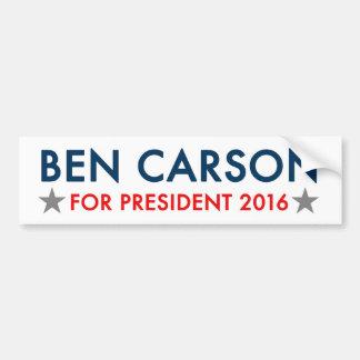 Ben Carson for President 2016 bumper sticker
