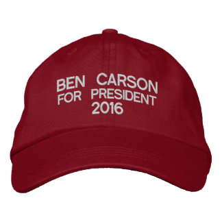 Ben Carson For President 2016 Embroidered Hats