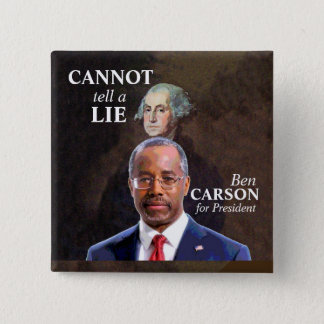 Ben Carson for President 2 Inch Square Button