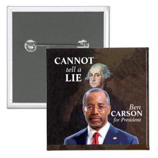 Ben Carson for President 2 Inch Square Button
