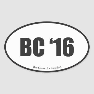 Ben Carson for President Oval Sticker