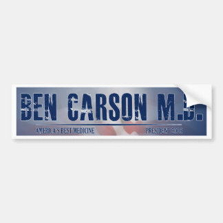 Ben Carson M.D. for President Bumper Sticker