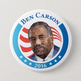 Ben Carson portrait low polygon artwork 3 Inch Round Button