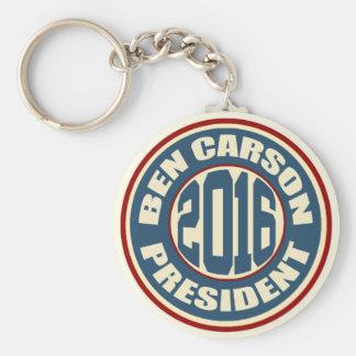 Ben Carson President 2016 Keychain
