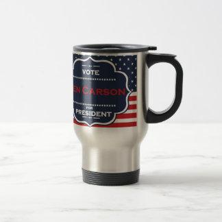 ben carson president travel mug