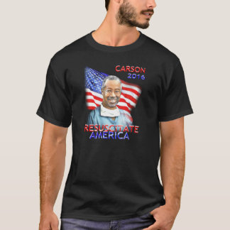 Ben Carson Tee-Shirt Resuscitate America 2016 Flag T-Shirt