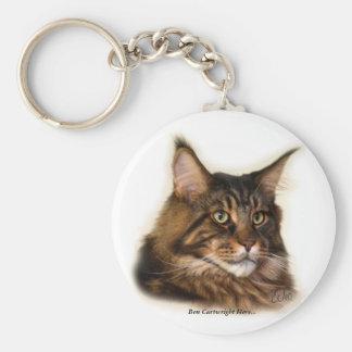 Ben Cartwright Here... Maine Coon Cat keychain