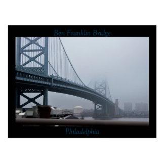 Ben Franklin Bridge Philadelphia Postcard