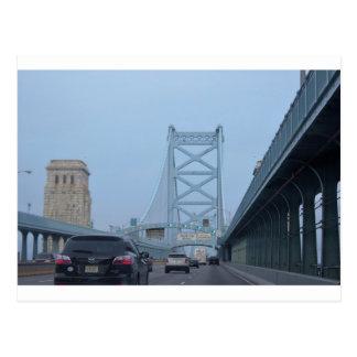 Ben Franklin Bridge Photo Postcard
