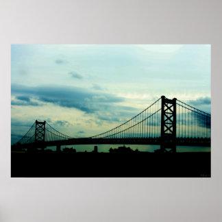 Ben Franklin Bridge Poster