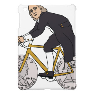 Ben Franklin On A Bike With Half Dollar Wheels iPad Mini Cover