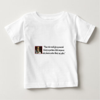 Ben Franklin on Liberty Baby T-Shirt