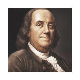 Ben Franklin Painting Canvas Print