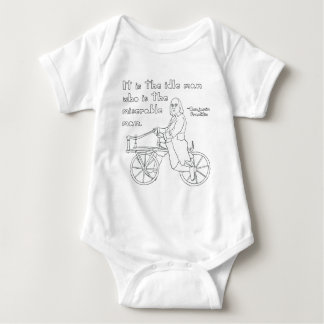Ben Franklin Quote On Bike Baby Bodysuit
