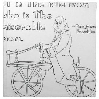 Ben Franklin Quote On Bike Napkin