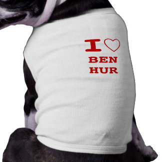 BEN HUR I heart (love) Pet Clothing