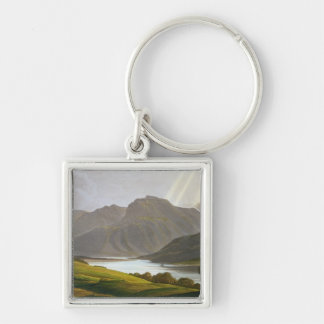 Ben Nevis, plate XII from 'Scenery of the Grampian Silver-Colored Square Keychain