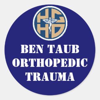 ben taub ortho classic round sticker