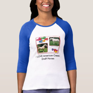 Ben&Venus Valentine, I LOVE American Cream Draf... T-Shirt