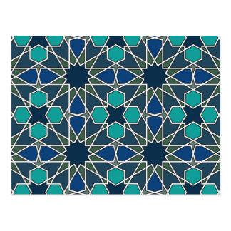 Ben Yusuf Madrasa Geometric Pattern 0-0-7 Postcard