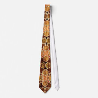 Ben Yusuf Madrasa Geometric Pattern Woodgrain Tie