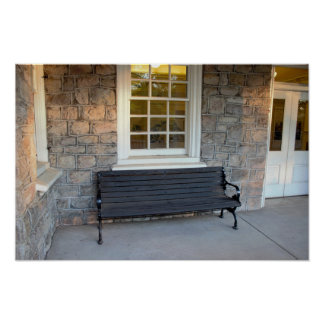 Bench at Valley Forge Poster