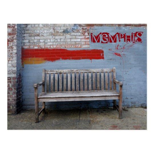 Bench in Memphis Postcard