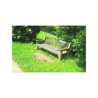 Bench in UK Canvas Print