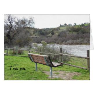 Bench Looking Toward Salinas River: Miss You Card