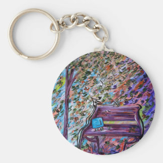 Bench on a Windy Day Keychain