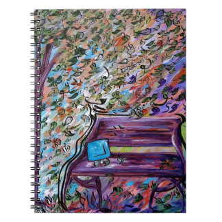 Bench on a Windy Day Notebooks