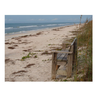 Bench on the Beach Postcard