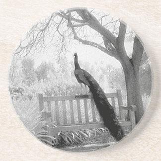 Bench Peacock Coaster